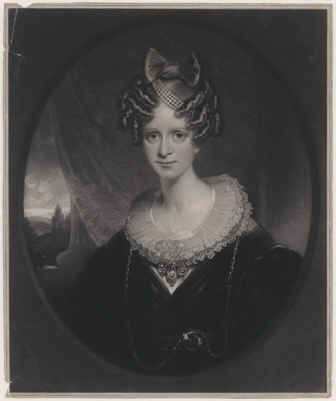 Queen Adelaide (Princess Adelaide of Saxe-Meiningen), by Thomas Goff Lupton, after Sir William Beechey, published 1834 - NPG D8131 - В© National Portrait Gallery, London
