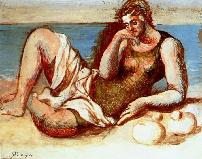 Пабло Пикассо. Купальщица. 1908 год