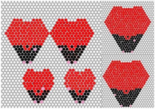 Кирпичное плетение цветов из бисера мастер класс