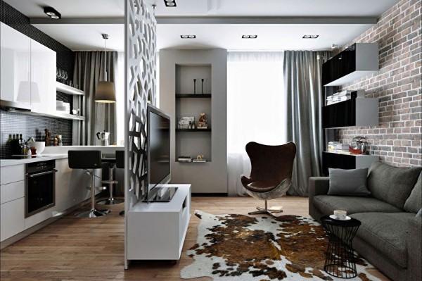 Объединение кухни и гостиной — 67 фото с примерами дизайна