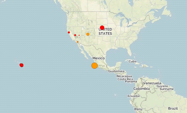 Мексика. Землетрясение магнитудой 6