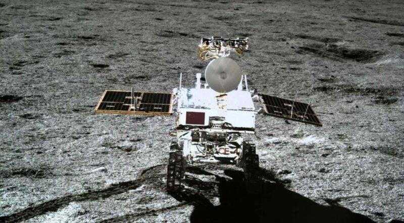 Китайский луноход Yutu-2 обнаружил необычные минералы на обратной стороне Луны космос, луна, наука, факты, ю ту