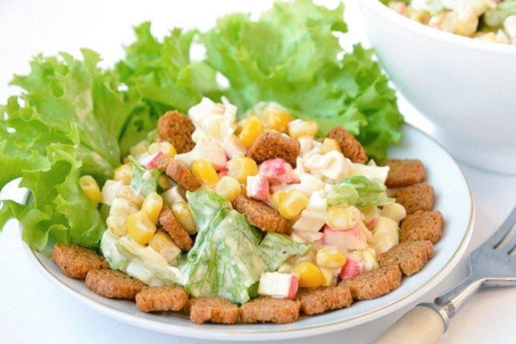 Крабовый салат с цветной капустой