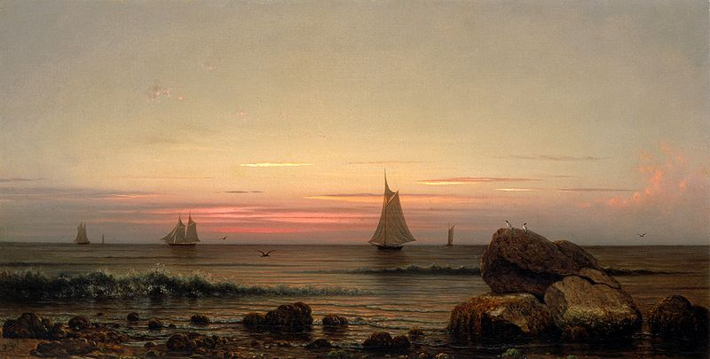 File:Sailing off the Coast by Martin Johnson Heade, 1869.jpg