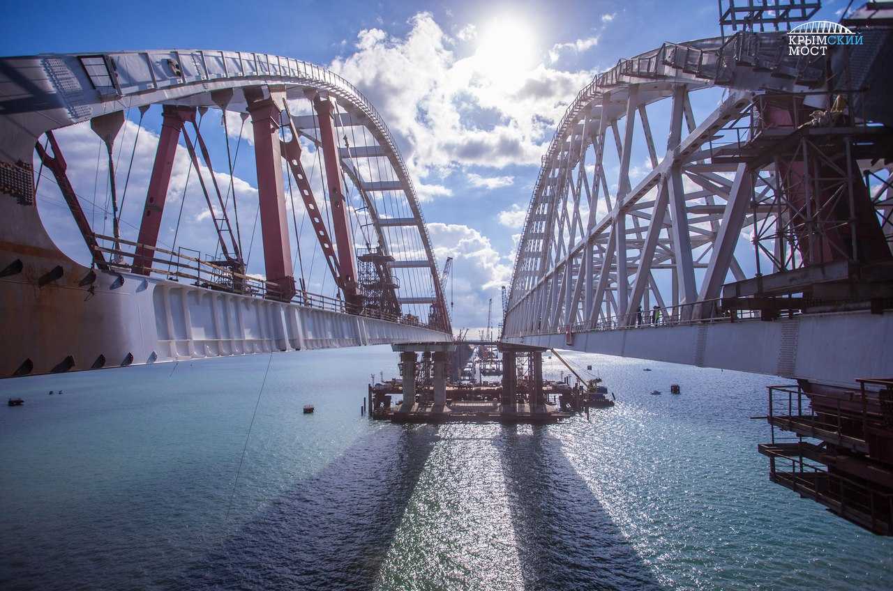 Как охраняют Керченский мост