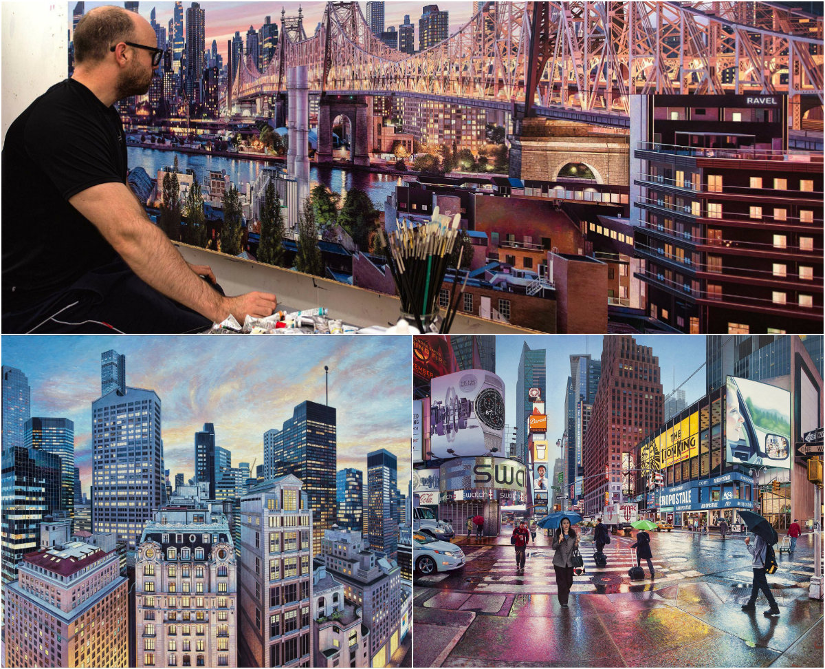 Британский художник пишет невероятные реалистичные трехметровые картины