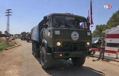 Россия доставила продукты в зону деэскалации в провинции Хомс