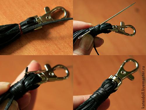 как сделать шнурок из обрезков кожи (10) (500x375, 231Kb)