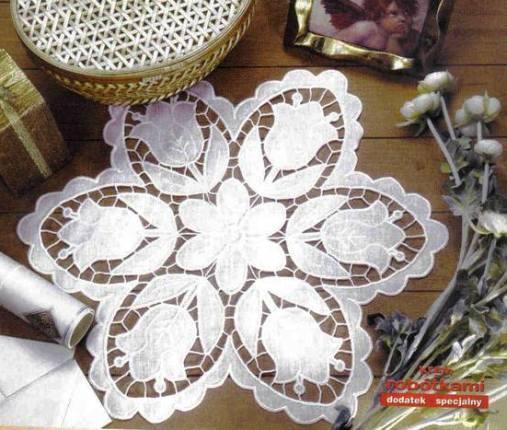Рукодельницам в помощь — красивые идеи для вышивки ришелье со схемами