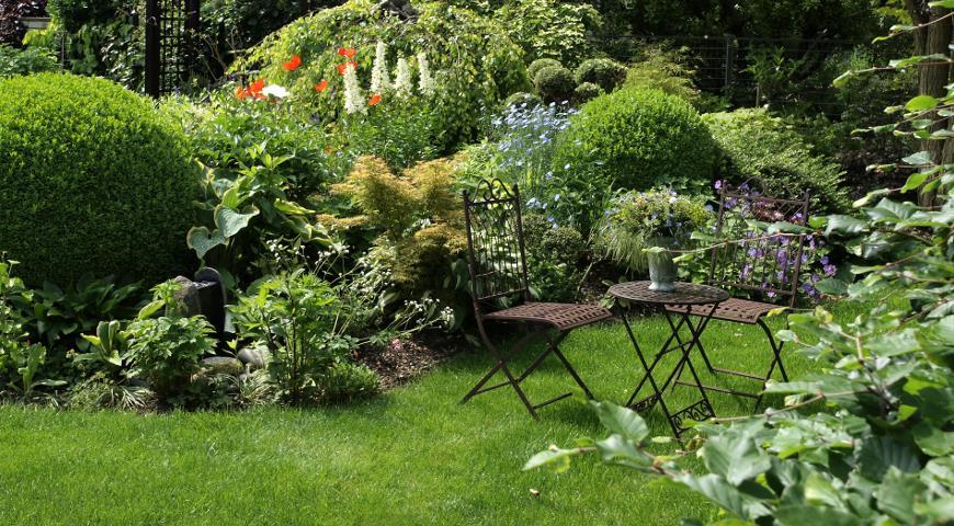 Зоны отдыха в саду: правила обустройства