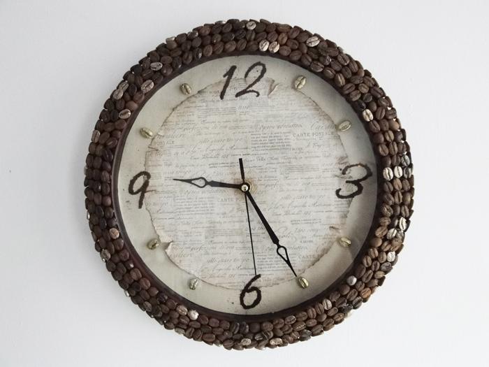Кофейные часы своими руками фото