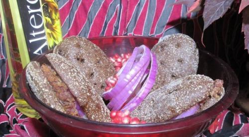 Ржаные лепёшки с красной фасолью