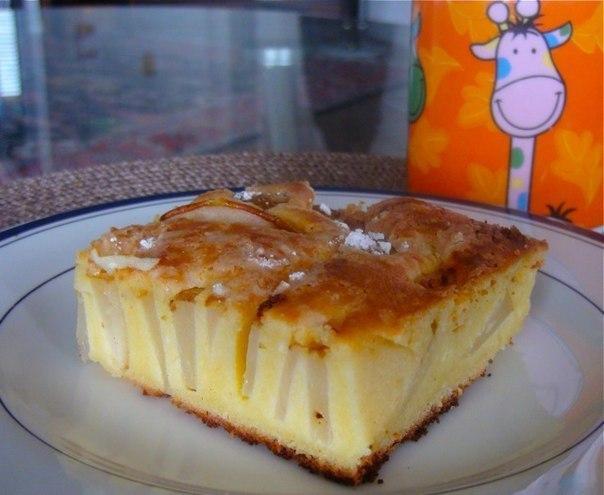 Превосходный французский творожный пирог с грушами. Объедение