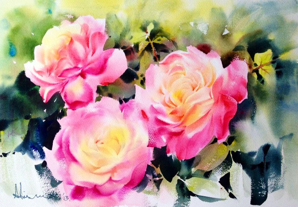 Что шепчут розы по утру? Художник-акварелист Adisorn Pornsirikarn