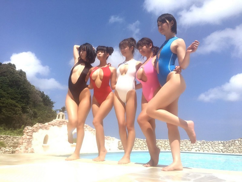 Последний писк японской пляжной моды девушки, мода, писк, пляж, последний, япония