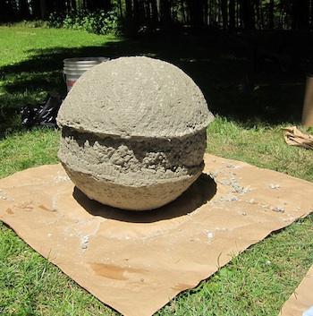 Как сделать бетонные шары 131