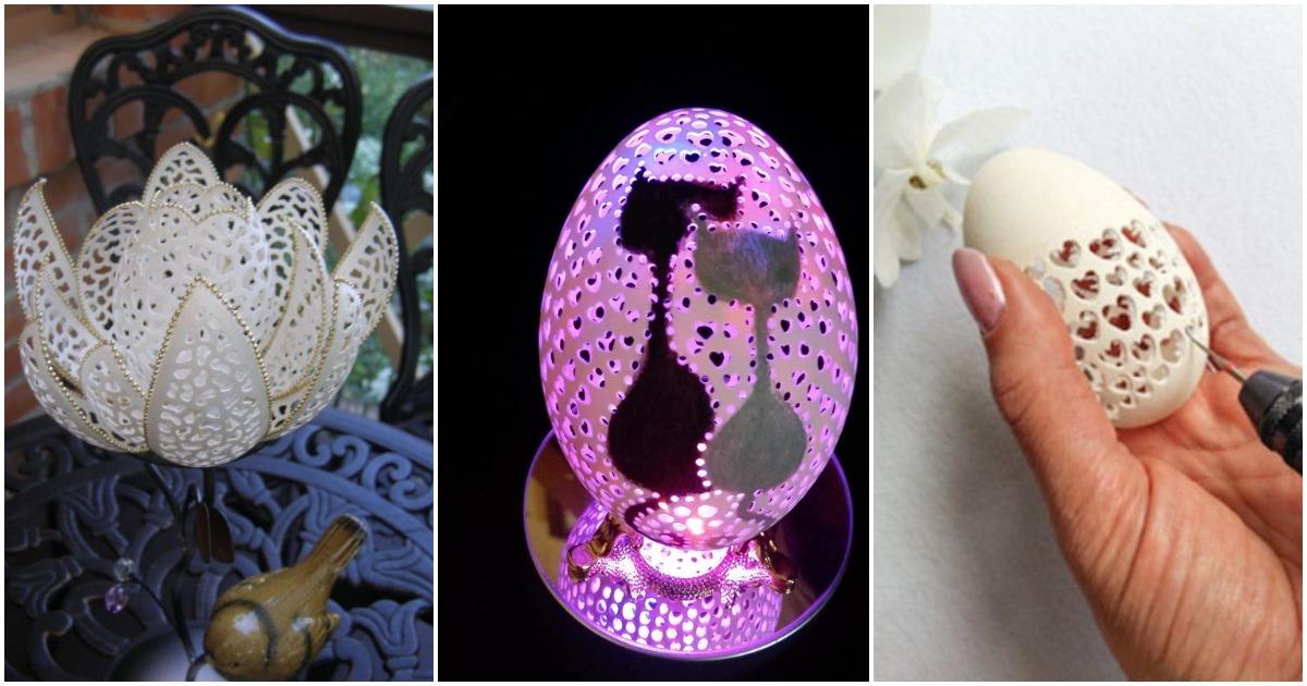 Резьба по яичной скорлупе: уникальные работы Даны Ляшенко