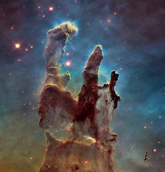 Новая фотография Столпов Творения, сделанная телескопом Хаббл-1