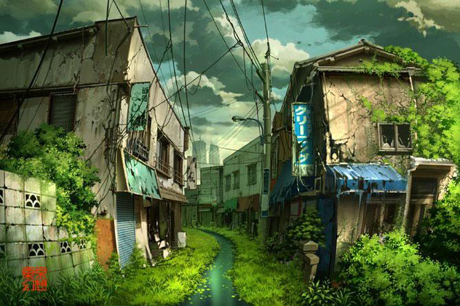 Мир после апокалипсиса в иллюстрациях Tokyo Genso