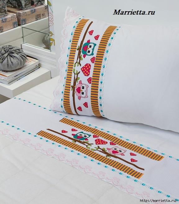 Схема вышивки совушек для