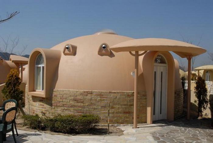 Как делают купольные дома из пенополистирола в Японии