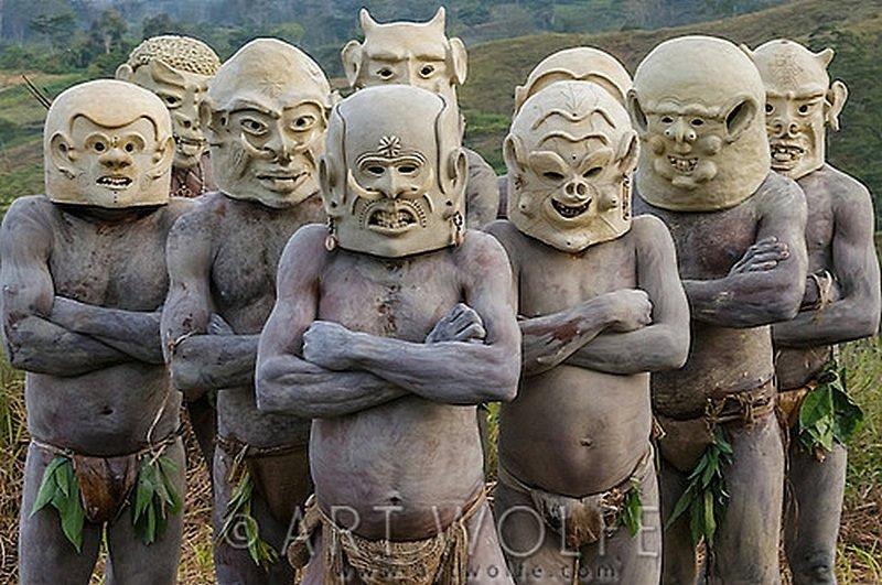 Грязевые люди Асаро мудмен (Папуа-Новая Гвинея)