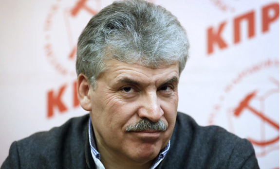 ЦИК отказал в передаче Грудинину мандата депутата Госдумы от КПРФ