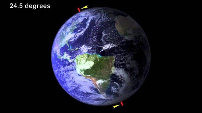 5. Изменится наклон оси вращения Земли Спутник Земли, Что будет если, гипотезы, земля, интересно, луна, теории