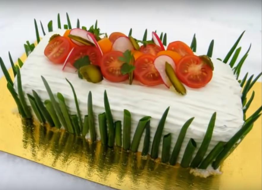 Мясной «Наполеон»-праздничный рецепт