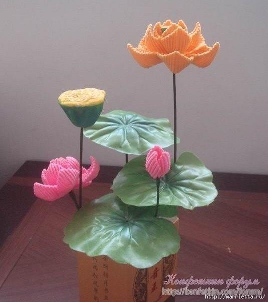 Цветы в технике китайского макраме (16) (535x602, 125Kb)