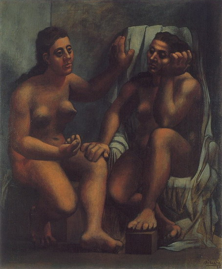 Пабло Пикассо. Две сидящие купальщицы. 1920 год