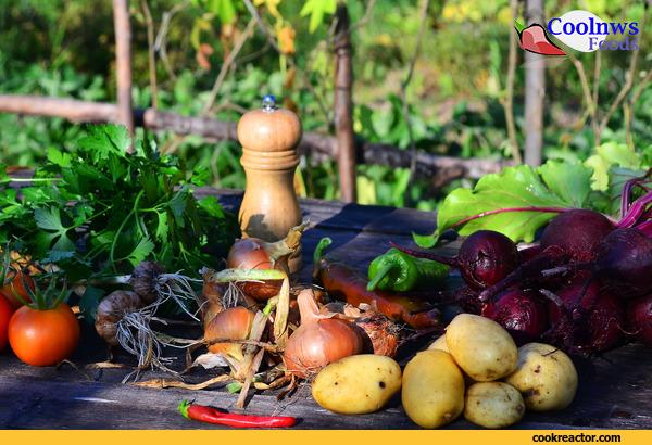 Борщ постный из овощей запеченных в золе