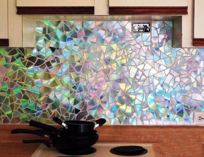 Мозаика из компакт-дисков