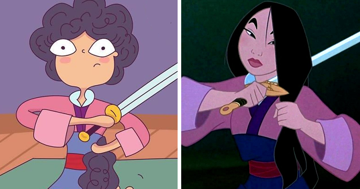 Illustrator Shows What Would Happen If Disney Princesses Had Curly Hair, And The Consequences Are Hilarious