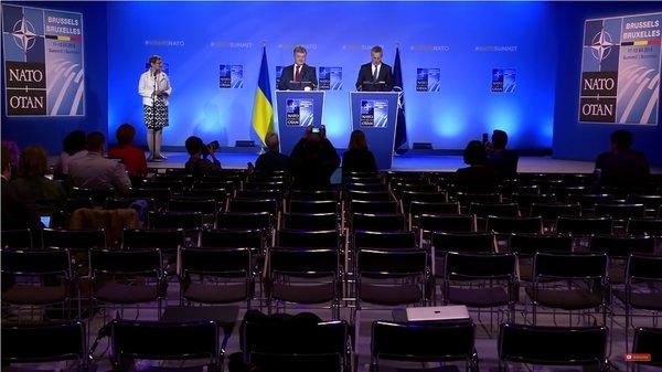 Видео выступления Порошенко: пустой зал на саммите НАТО