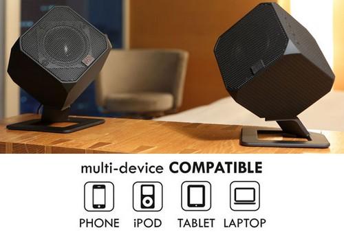 Cubik HD – перевернутые USB колонки для смартфонов и планшетников