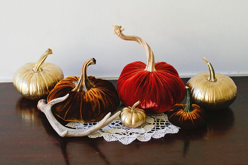 Осенняя тыковка из вельвета