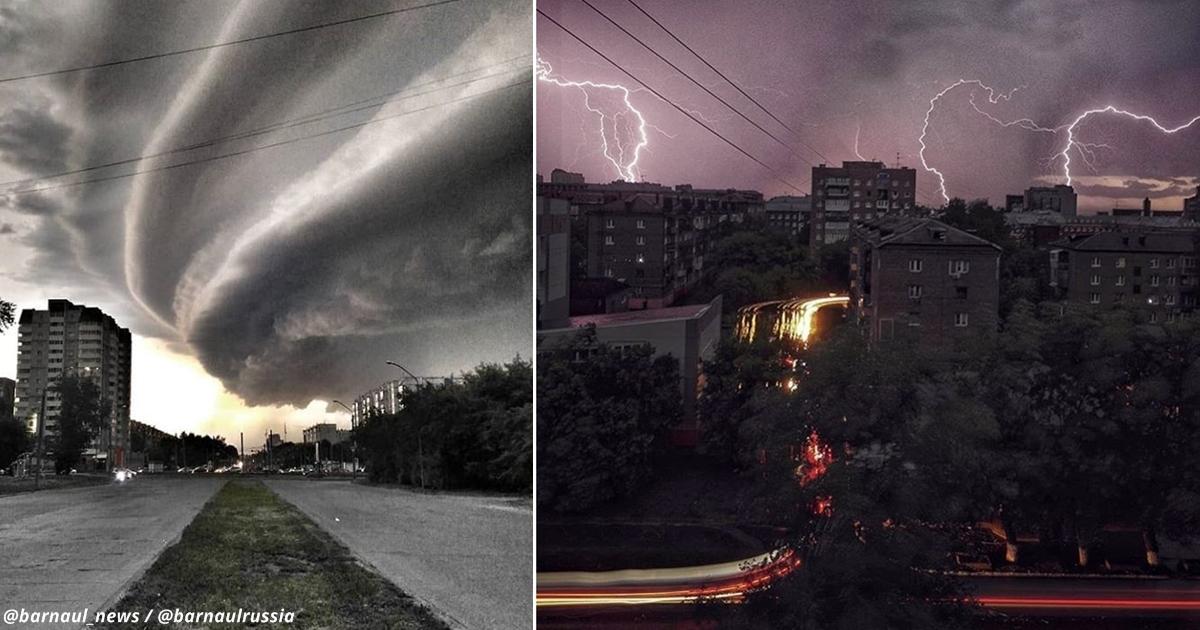 Ураган в Барнауле - самое мистическое явление природы из всех, что вы увидели
