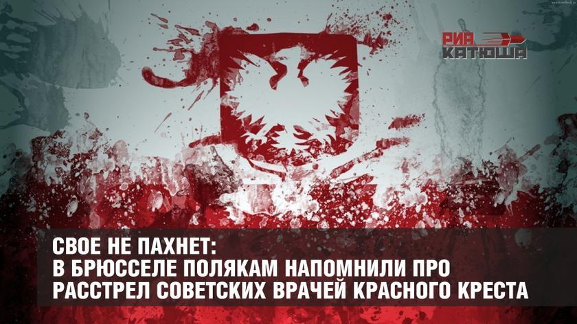 Свое не пахнет: в Брюсселе полякам напомнили про расстрел советских врачей Красного креста