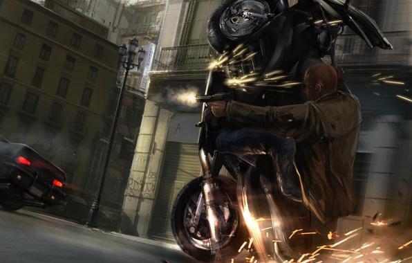 ВКиеве мотоциклист расстрел…