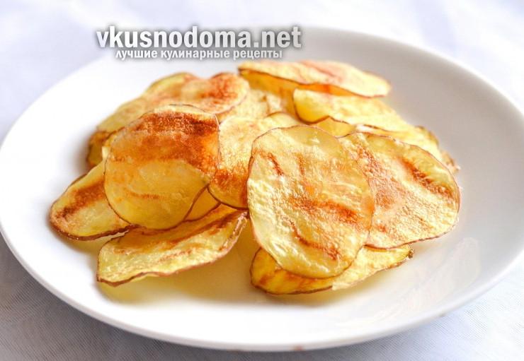 Картофельные чипсы в духовке по-домашнему