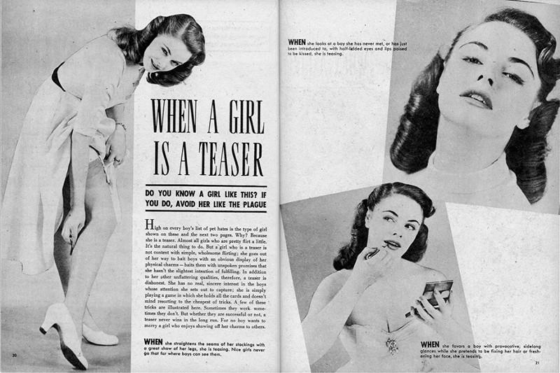 Как определяли «плохих девушек» в 1952 году девушки, норма, поведение, правила, статья