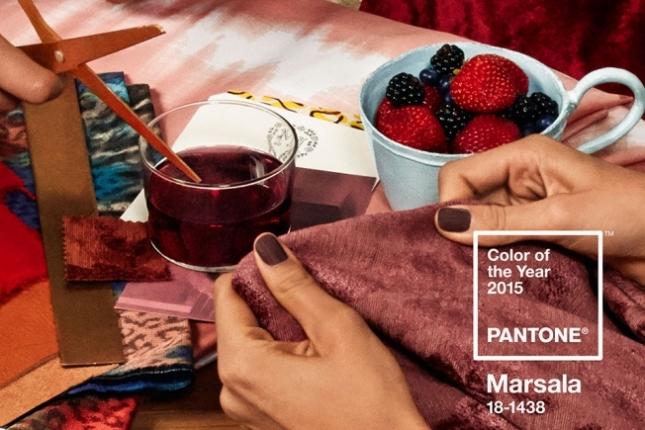 Марсала -  самый модный цвет 2015