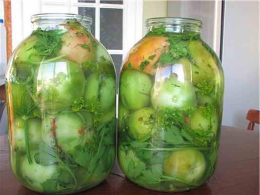 Рецепт засолки зеленых помидор. Собственный опыт.