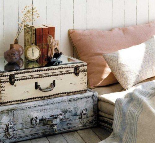 Новые идеи для использования старых чемоданов в интерьере