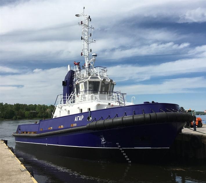 ЛСЗ «Пелла» спустил на воду буксир «Агар»