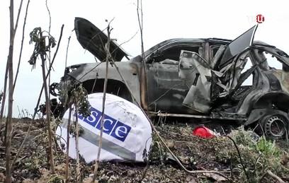 Наблюдатели ОБСЕ дважды попали под обстрел под Луганском