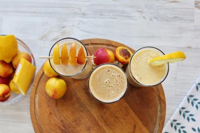 3 рецепта коктейля (смузи) с нектаринами Смузи, Коктейль, Молочный коктейль, Фрукты, Нектарин, Рецепт, Видео, Длиннопост, Видео рецепт