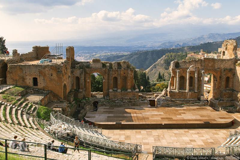 Греческий театр в Таормине / Фото из Италии