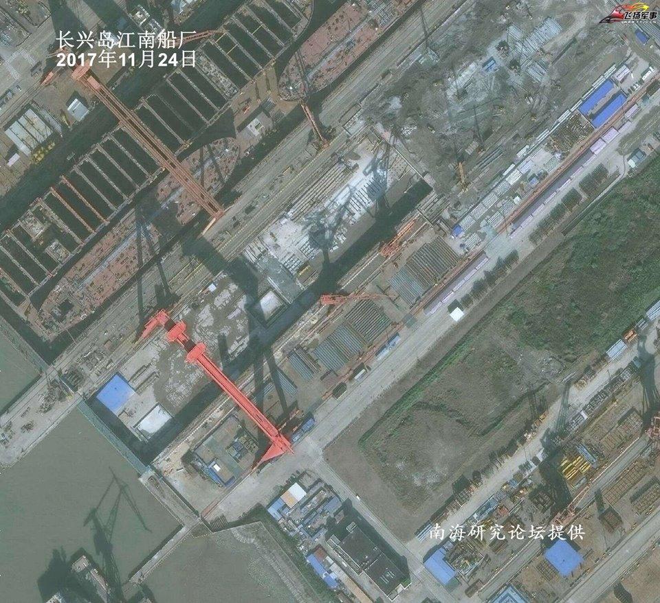 Китай начал постройку 3-го авианосца